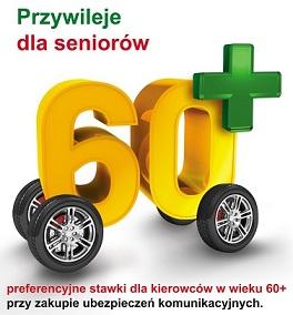 Korzyści dla kierowców w wieku 60+
